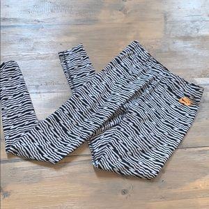 Nike zebra pattern leggings size S
